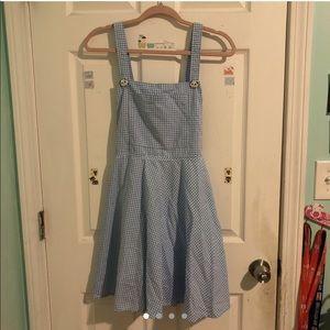Gingham Overall Dress